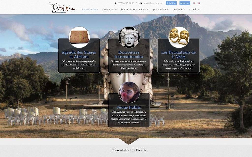 L'ARIA - Page d'accueil du site internet