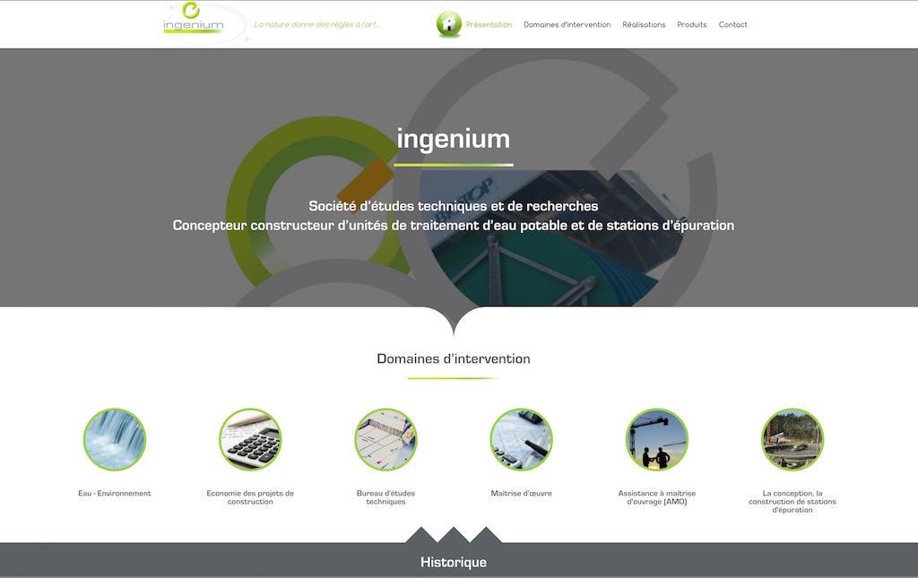 INGENIUM - Page accueil du site web ingenium Bastia - ingeniumsa.com