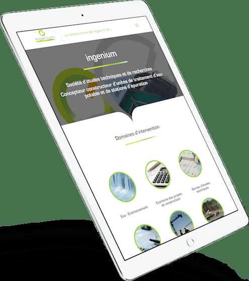 Vue design adaptatif - site internet ingenium - ingeniumsa.com